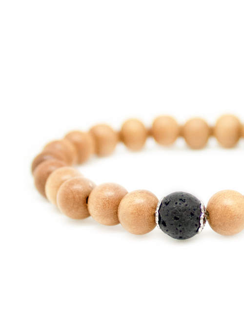 My Intention Wood Mala Bracelet Beads